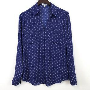 Express Anchor Print Portofino Shirt